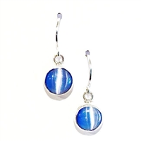 Blue Cat's Eye Dangle Earrings