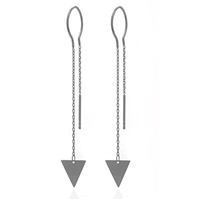 "Sterling Silver Threader Earrings-""Triangle"""