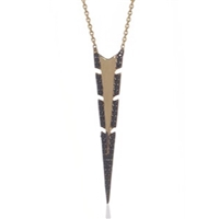 "22k Gold Plated Necklace -""Dart"""