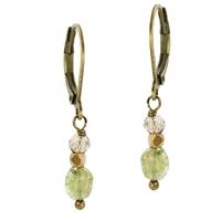 Watermelon Tourmaline Dangle  Earrings-  Watermelon Droplet
