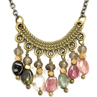 Watermelon Tourmaline Necklace-  Soft Spectrum