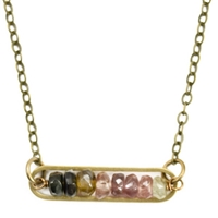 Watermelon Tourmaline Necklace-  Peapod