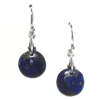 Sterling Silver Drop Earrings- Afghani Lapis Lazuli