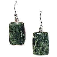 Sterling Silver Dangle Earrings-Seraphinite