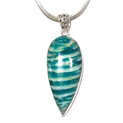 Sterling Silver Pendant- Amazonite