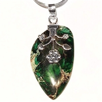 Sterling Silver Pendant/Necklace- Sea Sediment Jasper