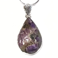 Sterling Silver Pendant- Charoite with Copper
