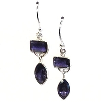 Iolite Dangle Earrings