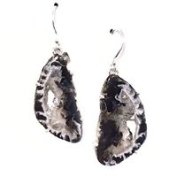 Sterling Silver Earrings- Geode