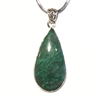 Sterling Silver Pendant- Chrysocolla