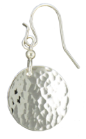 Small Hammered Round Disc- Sterling Silver