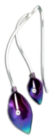 """Mother & Daughter Lily"" Earrings- Sterling Silver & Niobium"