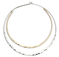 Hammered Double Hoop Earring