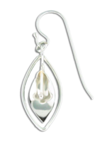 "Sterling Silver ""Lily Vase"" Earrings"