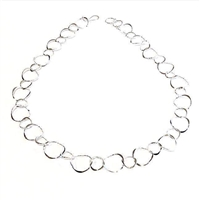 Staggered Link Necklace- Sterling Silver