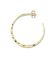 Hammered Post Hoop Earring