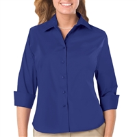 Blue Generation 6218 - LADIES EASY CARE 3/4 SLEEVE STRETCH POPLIN BLOUSE