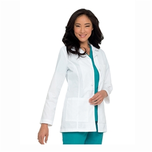 Landau 8726 - Ladies Princess Seam Lab coat