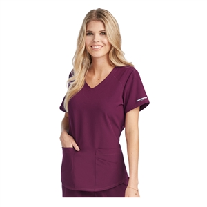 SKECHERS SK101 by Barco - Vitality 3 Pocket V-Neck Top