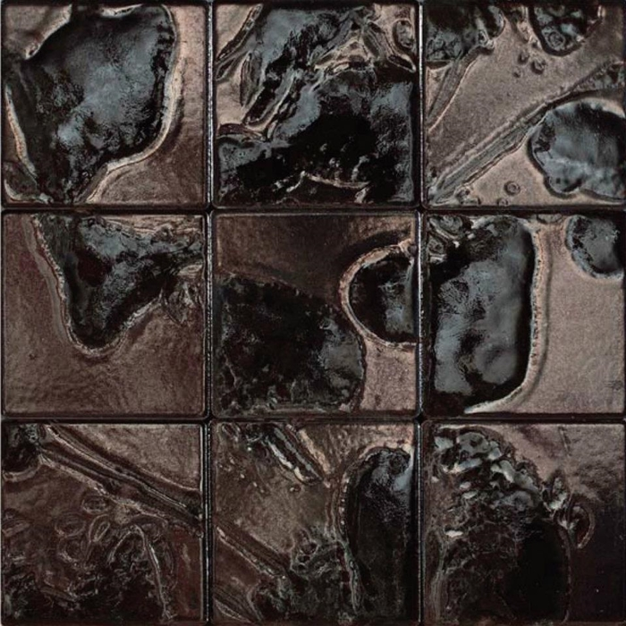 Bristol Studios Midnight Metallic G Tahitian Pearl X - Decorative 4x4 metal tiles