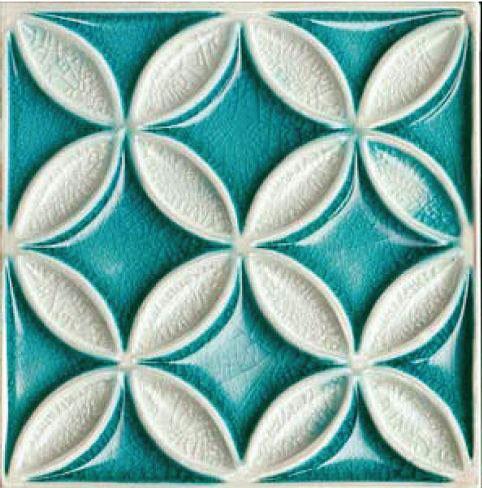 Bristol Studios Nouveau G2353 Fleur Crackle Relief Deco 8x8