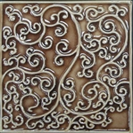 Bristol Studios - Nouveau - G2448 Nantes Cannalle Relief Deco - 6X6 Hand Crafted Decorative Tile