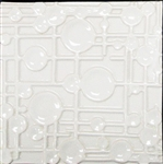 Bristol Studios - Nouveau - G2454 Paris Blanc White Relief Deco - 8X8 Hand Crafted Decorative Tile