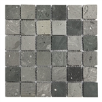 Bristol Studios - Terra Mosaics - G4381 Kerry - 2X2 Square Terracotta Handcrafted Unglazed Mosaic Tile