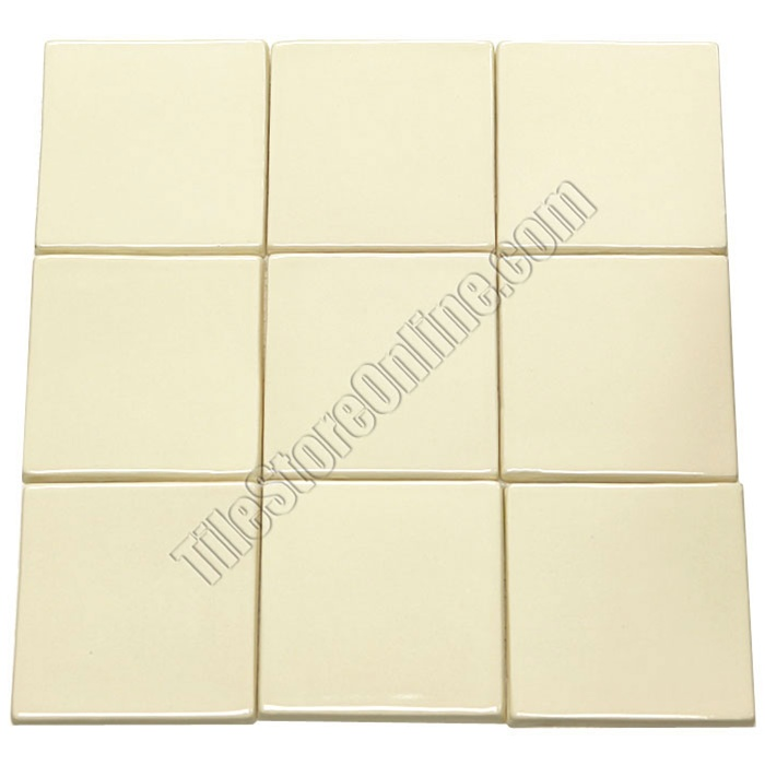 Mexican Hand Crafted Ceramic Tile 4 14 X 4 14 Custom Ojai White