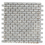Sicis Italian Stone Mosaic - Tumbled Verde Luna Green Marble Mini Brick Subway Mosaic - ODD LOT SUPER DEAL