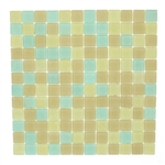 JR International - JR-S07 - 1 X 1 Square Frost Matte Glass Mosaic Blend - ODD LOT SUPER DEAL