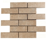 Porcelain Subway Mosaic Tile - 2 X 6 Stone Beige Brick Subway - Glazed Porcelain Tile Mosaic