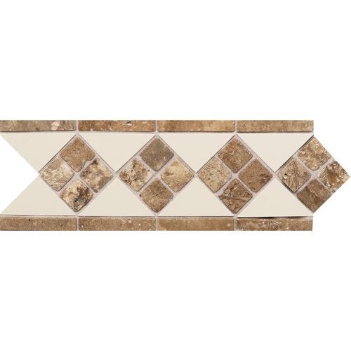 Daltile Fashion Accents 4 X 12 Fa52 Tile And Travertine Liner 0135 Almond Noce Dal Decorative Border