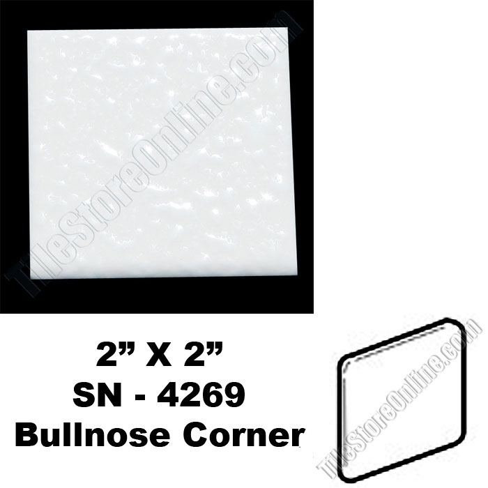Daltile 0400 Mayan White 2x2 Bullnose Corner Sn4269 Dal Tile