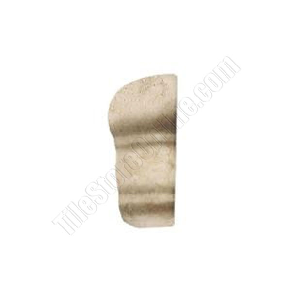 Daltile 2 X 6 Chair Rail Part - 48: Daltile - Brancacci Arena Windrift Beige - 2 X 2 Chair / Counter Rail Out  Corner - Dal Tile Ceramic Trim Tile