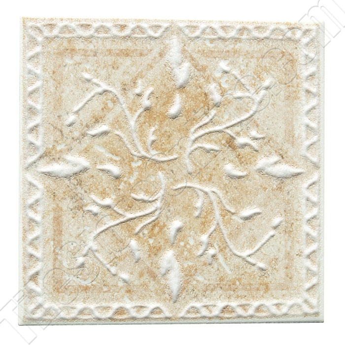 Daltile Belleview Bv07 Rustic Gold Ceramic Tile Deco 6 X 6 Dal