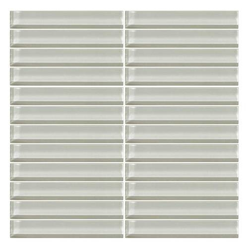 daltile color wave glass cw02 feather white 1 x 6 straight joint dal tile glass mosaic tile glossy