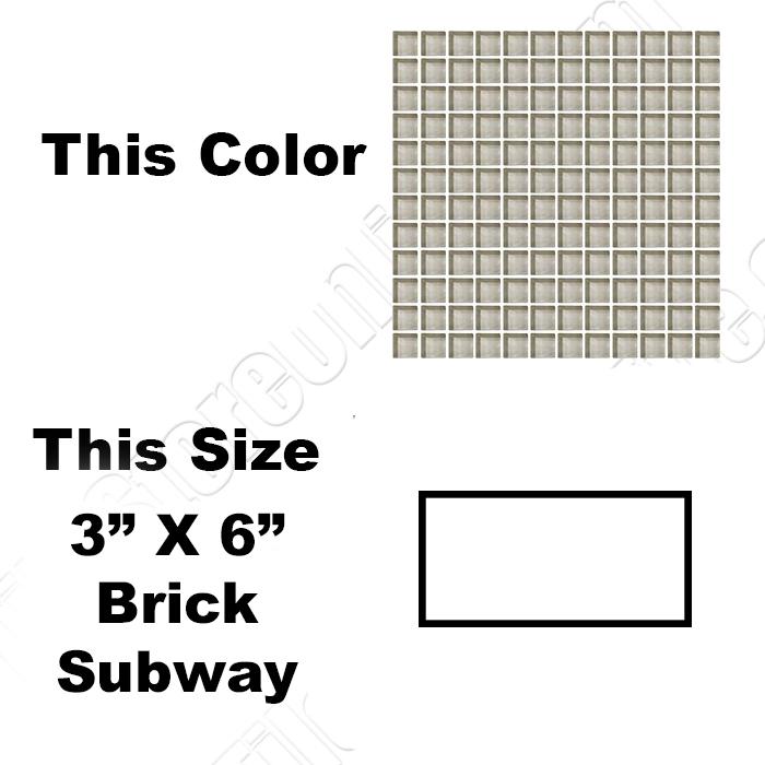 Daltile Color Wave Glass Tile CW Silver Mink X Brick - Daltile order samples