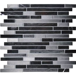 Daltile Endeavors - F161 Mystic - 5/8 X Linear Glass Stone and Metal Mosaic