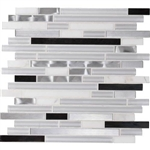 Daltile Endeavors - F164 Neo Classic - 5/8 X Linear Glass Stone and Metal Mosaic