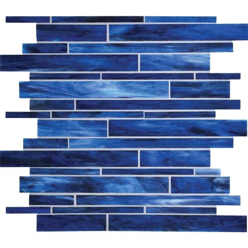 Serenade Stained Gl Mosaic F181 Memphis Blues Blend Random