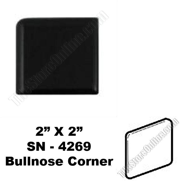 Daltile K111 Black 2x2 Bullnose Corner Sn4269 Dal Tile Ceramic Trim