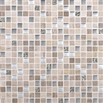 Daltile Marvel Mosaic - MV20 Whimsical- 5/8X5/8 Glass Tile, Stone, and Metal Deco Tile Mosaic