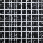 Daltile Marvel Mosaic - MV22 Onyx - 5/8 X 5/8 Glass Tile, Stone, and Metal Deco Tile Mosaic