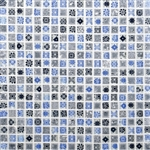 Daltile Marvel Mosaic - MV26 Artistry - 5/8 X 5/8 Glass Tile, Stone, and Metal Deco Tile Mosaic