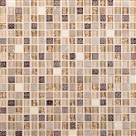 Daltile Marvel Mosaic - MV29 Gemstone - 5/8 X 5/8 Glass Tile, Stone, and Metal Deco Tile Mosaic