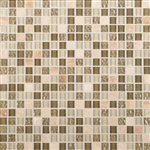 Daltile Marvel Mosaic - MV30 Radiance - 5/8 X 5/8 Glass Tile, Stone, and Metal Deco Tile Mosaic