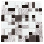Pacifica Cristallo Pietra - CPXHE82887 Cliffs Multi - Mixed Sizes of Glass & Stone Mosaic Tile - ODD LOT SUPER DEAL