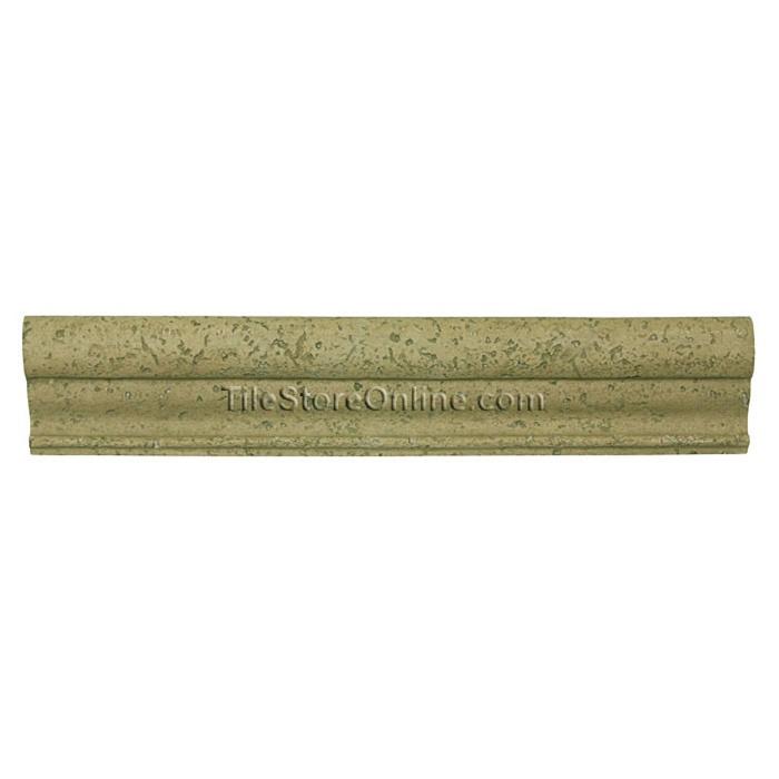 Resin Travertine Faux Stone   2.5 X 12 Pietra Resina Torello Chair Rail  Molding Liner   PR3212TN Resin FauxStone   Noce