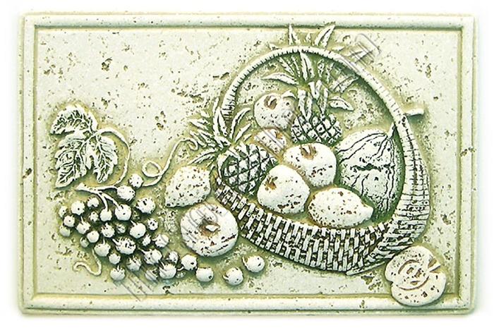 tumbled travertine faux stone - 8 x 12 kitchen backsplash fruit